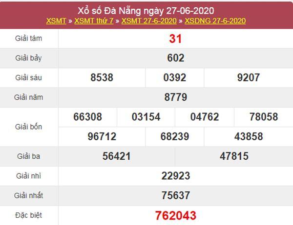Dự đoán XSDNG 1/7/2020 chốt KQXS Đà Nẵng thứ 4