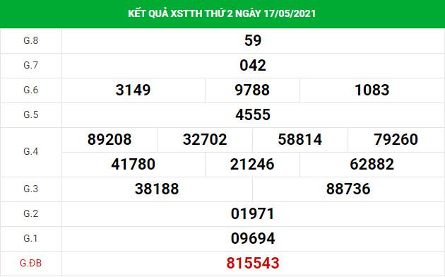 Dự đoán xổ số Thừa Thiên Huế 24/5/2021 hôm nay thứ 2