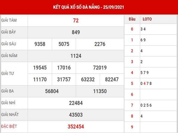 Dự đoán kết quả XS Đà Nẵng thứ 4 ngày 29/9/2021